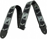 Ремень для гитары Fender Monogrammed Strap Black Light Grey Dark Grey