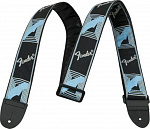 Ремень для гитары Fender Monogram Straps Logo Black Blue Gray